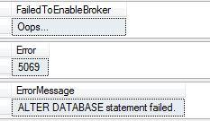 Service broker not enabled